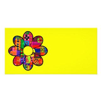 Années '60 flower power cartes avec photo