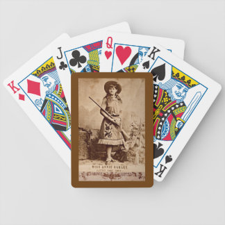 Annie Oakley Sepia Bicycle Spielkarten