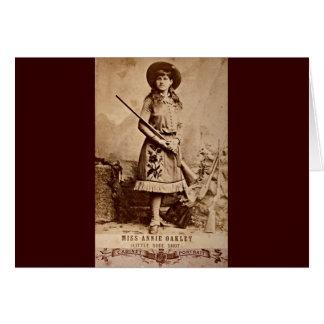 Annie Oakley Sepia Grußkarte