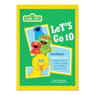 Anniversaire de copains de Sesame Street Carton D'invitation 11,43 Cm X 15,87 Cm