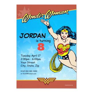Anniversaire de femme de merveille des bandes carton d'invitation  12,7 cm x 17,78 cm