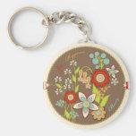 Anniversaire de floraison Keychain Porte-clef