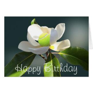 Anniversaire de magnolia de tennis joyeux carte de vœux