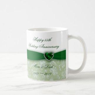 Anniversaire de mariage de damassé mug