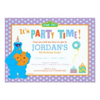 Anniversaire de monstre de biscuit carton d'invitation  12,7 cm x 17,78 cm