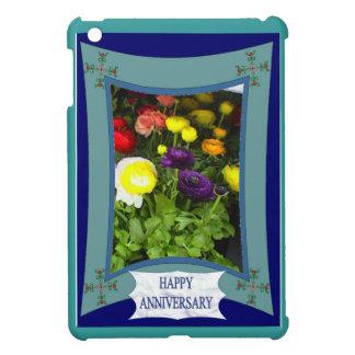Anniversaire heureux 21 floraux coques iPad mini