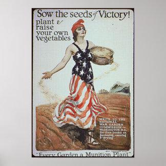 Annonce de jardin de victoire posters