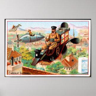 Annonce française vintage de chocolat d'affiche, s poster