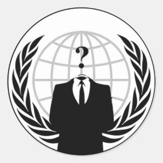 Anonyme Flaggen-runde Aufkleber