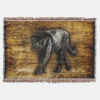 Anpirschende schwarzer Panther-Grafik Decke