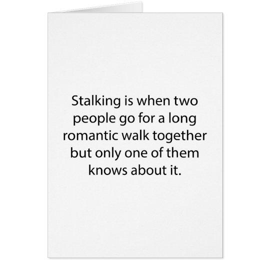 Anpirschender romantischer Weg Grußkarte