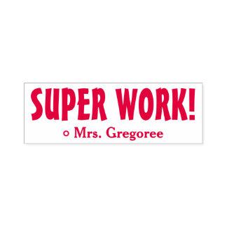 """Anregen""""SUPERarbeit!"""" Markierungs-Gummi-Briefmarke Permastempel"""