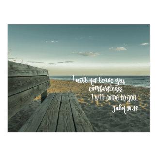 Anregung, Bibel-Vers (John) tröstend Postkarte