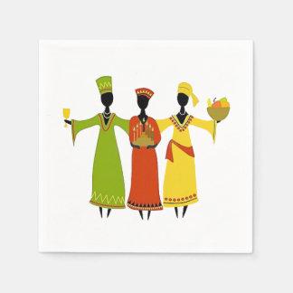Ansammlungs-Kwanzaa-Party-Papierservietten Papierserviette