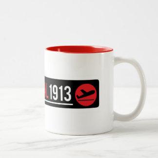 Anschluss-Tasse 1913 mit rotem Detail Zweifarbige Tasse