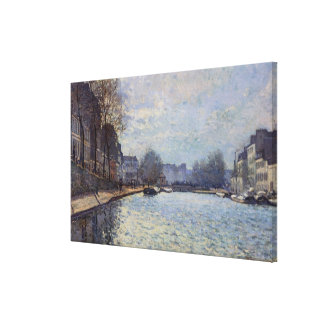 Ansicht Alfred Sisleys | des Kanals St Martin, Leinwanddruck