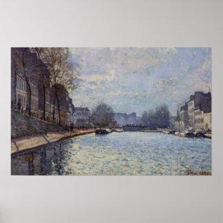 Ansicht Alfred Sisleys | des Kanals St Martin, Poster