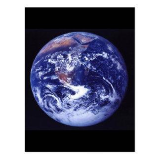 Ansicht Apollo 17 von Erde im Raum Postkarte