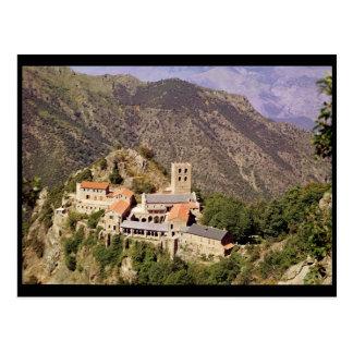 Ansicht der Abtei von St Martin du Canigou Postkarte