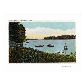 Ansicht der Boote in den Engen Postkarte