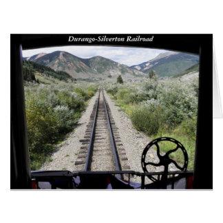 Ansicht der Durango-Silverton Eisenbahn Karte