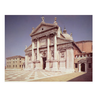 Ansicht der Fassade, aufgebaut 1607-11 Postkarte