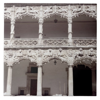 Ansicht der Hofgalerie 'des Infantado PAs Keramikfliese