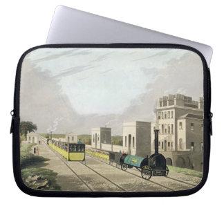 Ansicht der Manchester- und Liverpool-Eisenbahn, N Laptop Computer Schutzhülle