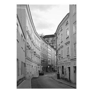 Ansicht der merkwürdigen Straße von Salzburg Fotodruck