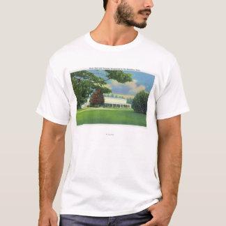 Ansicht der Tanglewood Musik-Halle und des Bodens T-Shirt