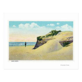 Ansicht der typischen Neu-England Sanddünen Postkarten