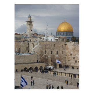 Ansicht der Western-Wand-Piazzas, später Postkarte