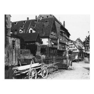 Ansicht des alten Viertels, Ulm, c.1910 Postkarte