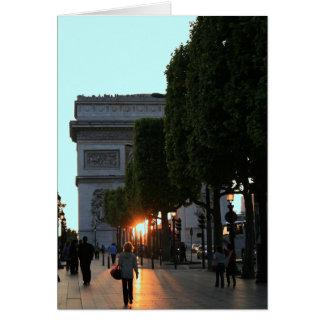 Ansicht des Arcs de Triomphe Karte
