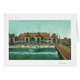 Ansicht des badenpavillons und des elektrischen grußkarte