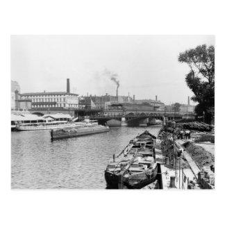 Ansicht des Fluss-Gelages, Berlin, c.1910 Postkarte