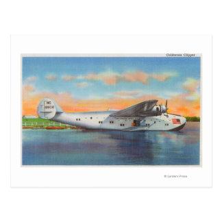 Ansicht des Kalifornien-Scherer-Flugzeug Postkarte