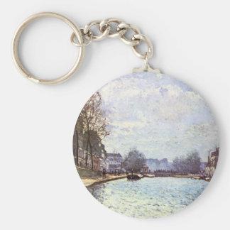 Ansicht des Kanals St Martin durch Alfred Sisley Schlüsselanhänger
