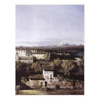 Ansicht des Landhauses Cagnola bei Gazzada Postkarte