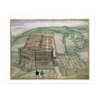 Ansicht des Landhauses Farnese und der Gärten, von Postkarte