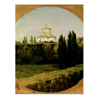 Ansicht des Landhauses Medici, Rom Postkarte