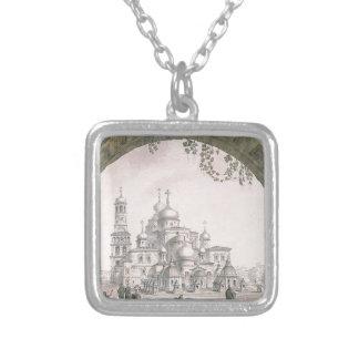 Ansicht des neuen Jerusalem-Klosters nahe Moskau Versilberte Kette