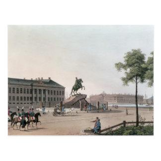 Ansicht des Ortes von Peter der Große und von Postkarte