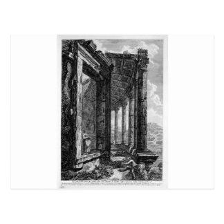 Ansicht des Peristyle und die Tür des Tempels O Postkarte