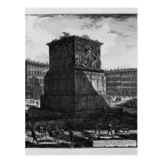 Ansicht des Sockels der Apotheose von Antoninu Postkarte