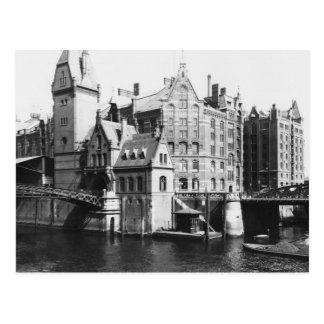 Ansicht des Speicherstadt Hamburg, c.1910 Postkarte