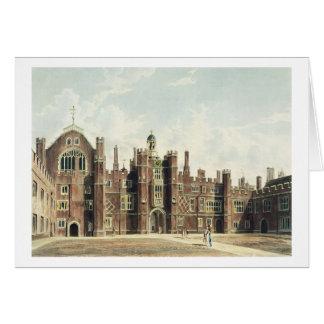 Ansicht des Vierecks am Hampton Court-Palast für Karte