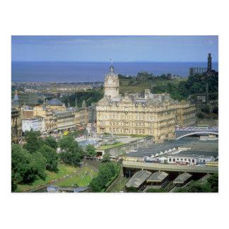 Ansicht des Waverley Bahnhofs, Edinburgh, Postkarte