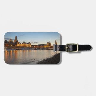 Ansicht Dresdens Elbe Gepäckanhänger