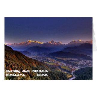 Ansicht-Landschaft: HIMALAJA POKHARA NEPAL Karte